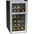 Koldfront 18 Bottle Dual Zone Thermoelectric Wine Cooler - Sil./Blk