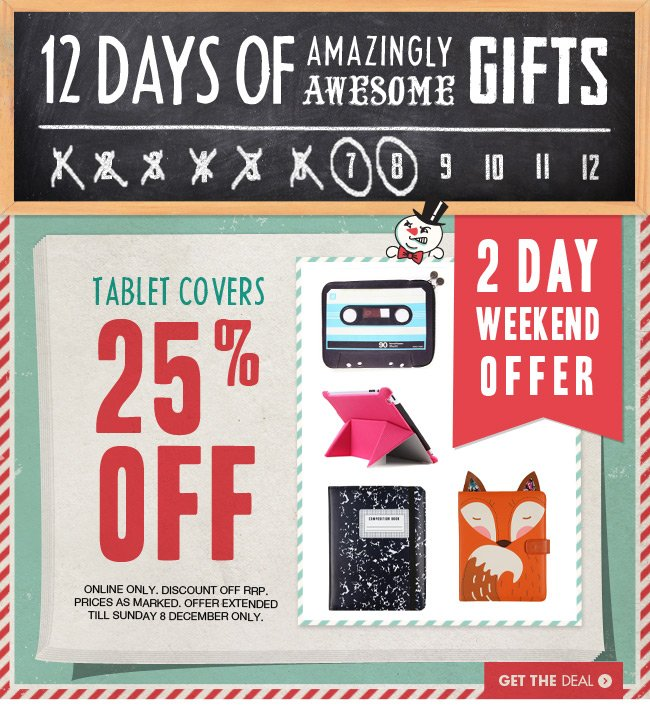 Tablet covers 25% off!