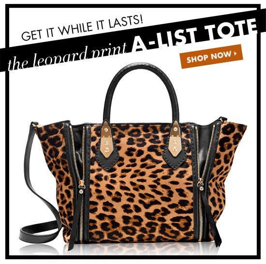 THE LEOPARD PRINT A-LIST TOTE
