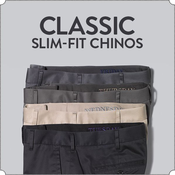 CLASSIC SLIM-FIT CHINOS
