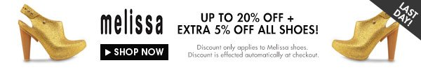 Get extra 5% off Melissa shoes