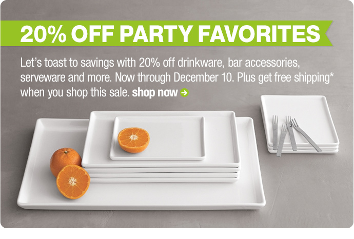 20% off party favorites