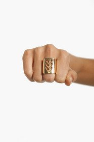Straight and Arrow Ring