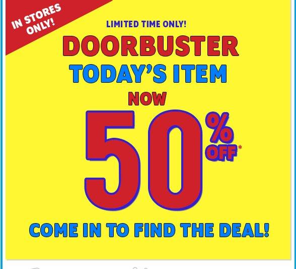 In Store Doorbuster