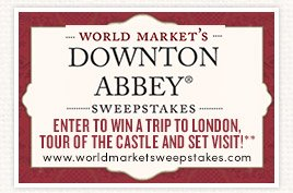 Enter our Downton Abbey Sweepstakes for a chance to win a trip to london, tour of the castle and set visit!