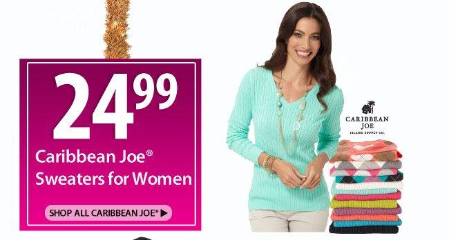 24.99 Caribbean Joe Sweaters for Women