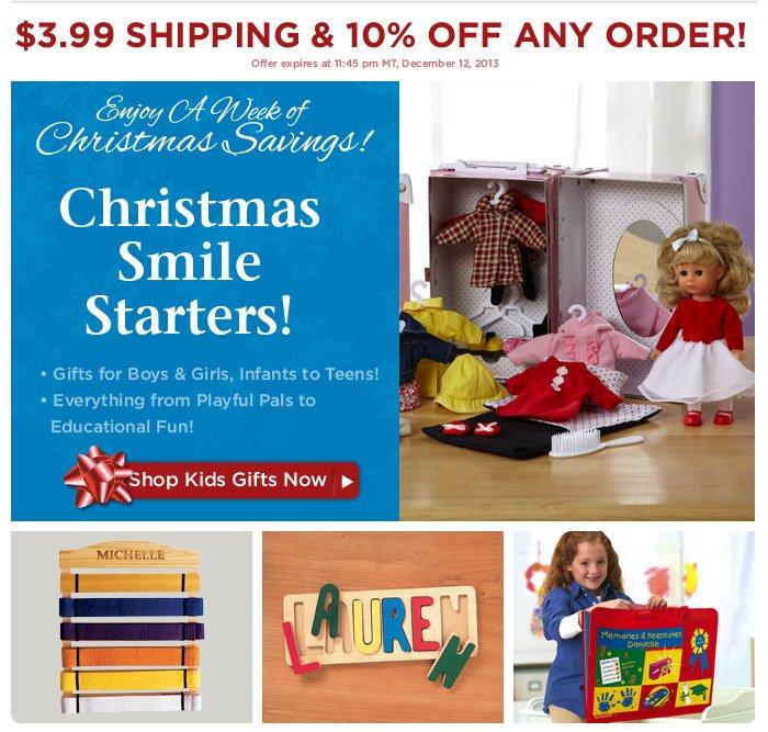 Enjoy A Week of Christmas Savings  — Gifts for Kids!