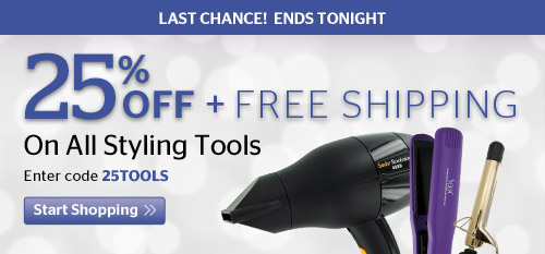 25% Off + Free Shipping On All Styling Tools
