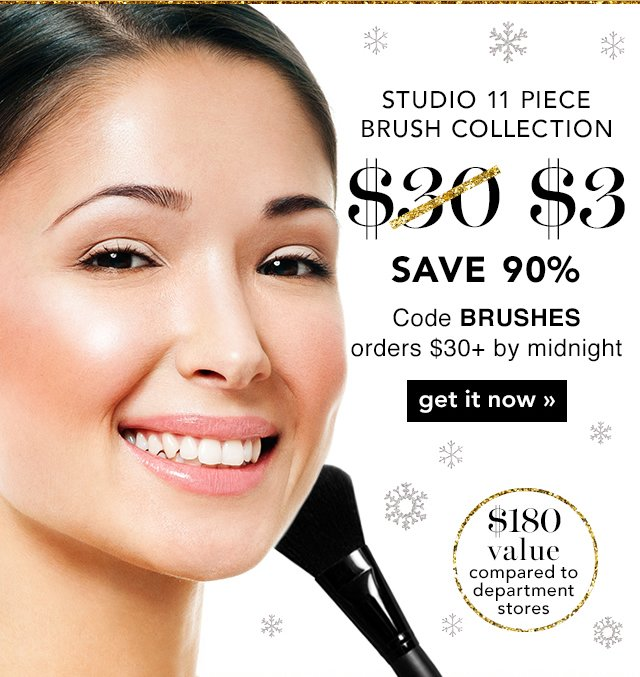 Studio 11 Piece Brush Collection $3 Code: BRUSHES