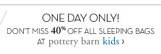 ONE DAY ONLY! pottery barn kids