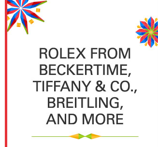 Rolex from Beckertime, Tiffany & Co., Breitling, and More
