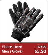 Men's Fleece-Lined Gloves