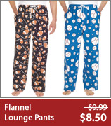 100% Cotton Flannel Lounge Pants