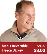 Men's Reversible Fleece Dickey