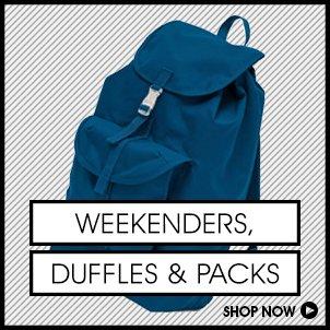 Weekenders, Duffles & Packs
