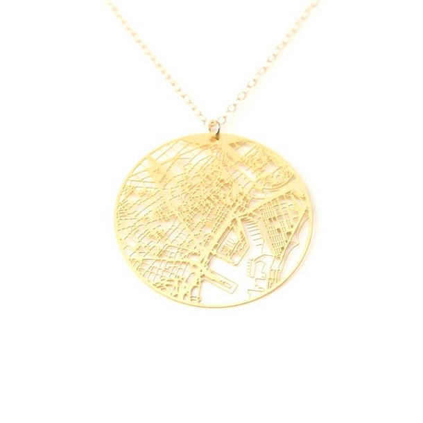 Barcelona Necklace Gold Plate