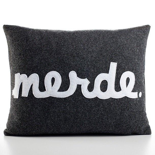 Merde 14x18 Charcoal