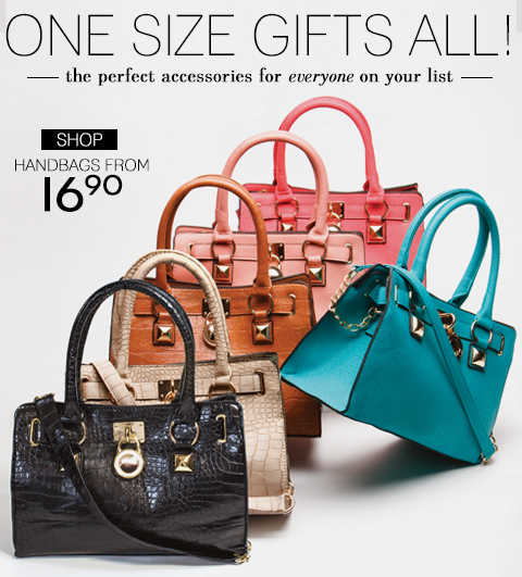Gift & Be Gifted! Shop New Handbags from $26.90 + Free Shipping with any Regular Price Purchase