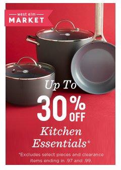 Up to 30% off kitchen essentials*