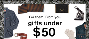 From them. From you. Gifts under $50