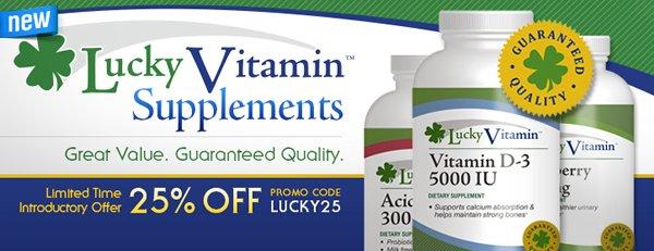 LuckyVitamin Brand Supplements