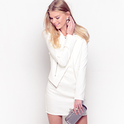 Winter White Coats, Blouses & Dresses
