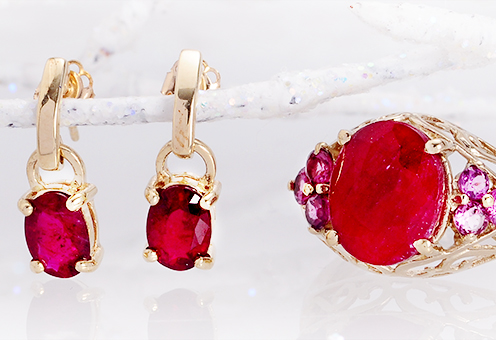 Jewelry Gifts for Her: Emerald, Ruby & Sapphire Blowout Starting at $11
