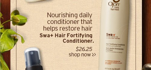 Nourishing daily conditioner that helps restore hair Swa plus Hair  Fortifying Conditioner SHOP NOW