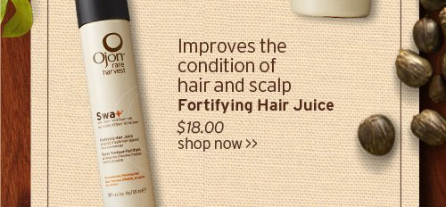Improves the condition of hair and scalp Fortifying Hair Juice SHOP  NOW