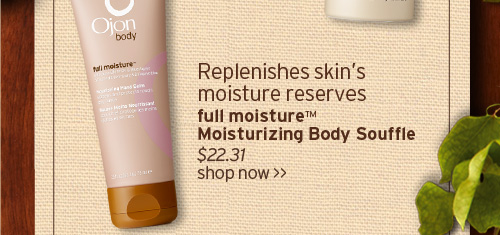 Replenishes skins moisture reserves full moisture Moisturizing Body  Souffle SHOP NOW