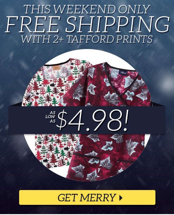 Free Shipping with 2+ Christmas Prints - Get Merry