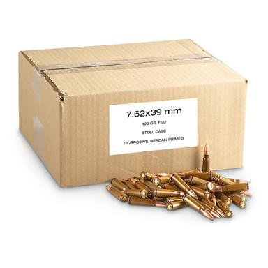 1,000 rds. 7.62x39mm FMJ Ammo