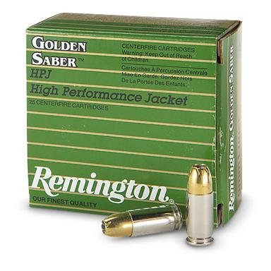 Remington® Golden Saber™ HPJ 25 rounds