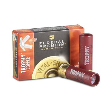 "5 rounds of Federal Premium® Vital-Shok 20 Gauge 2 3/4"" Shotgun Slug Ammo"