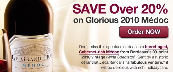 Day 6: Save over 20% on Glorious Medoc