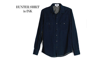 Hunter Shirt in Ink