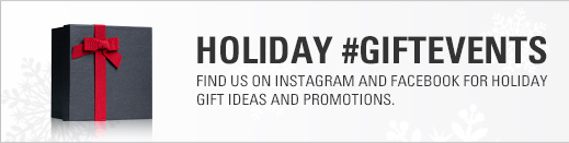 Find us on Instagram and Facebook for Holiday Gifts