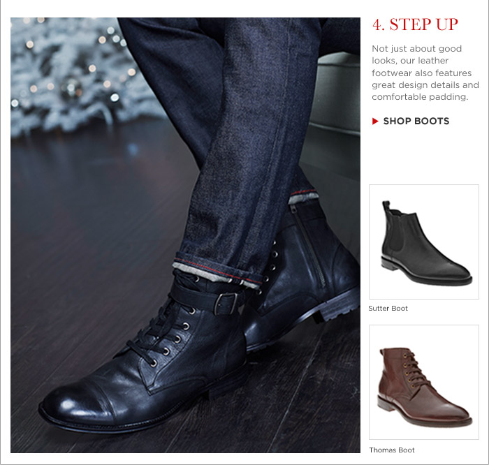 4. STEP UP | SHOP BOOTS