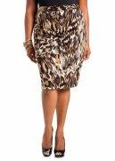 Animal Print Scuba Skirt