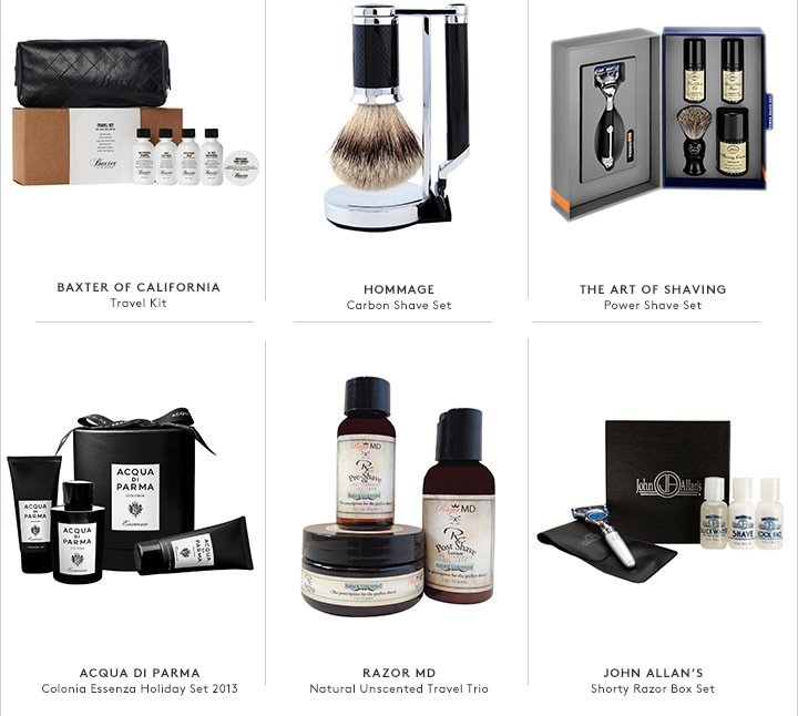 The ultimate luxury: Shop shaving kits, skincare, fragrance, and more.