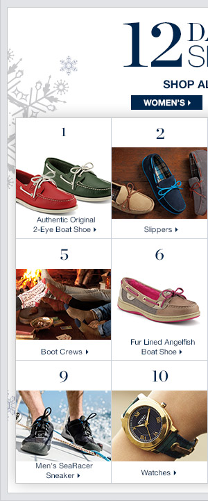 12 Days of Sperry | SHOP NOW >