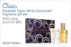 Elizabeth Taylor White Diamonds®  fragrance gift set.