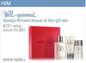 Giorgio Armani Acqua de Gio gift set.
