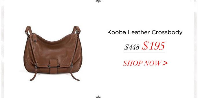 Kooba Leroy 100% Leather Crossbody
