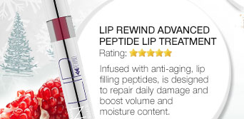 Lip Rewind Advanced Peptide Lip Treatment. Infused with anti-aging, lip filling peptides, is designed to repair daily damage and boost volume and moisture content.