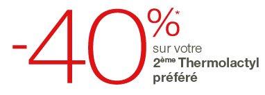 -40%* sur votre 2ème thermolactyl préféré