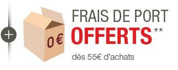 Frais de port offerts* dès 55 euros d'achats