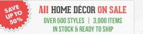 All Home Décor on Sale