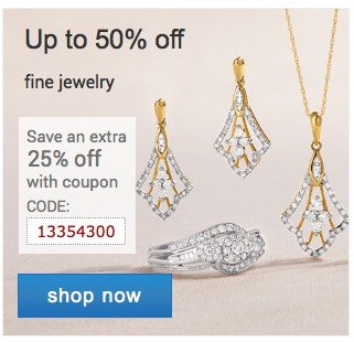 Fine Jewelry up to 50% off. Shop now.