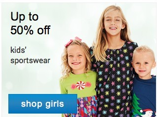 Game on! Up to 50% off Kids' sportswear. Shop girls.